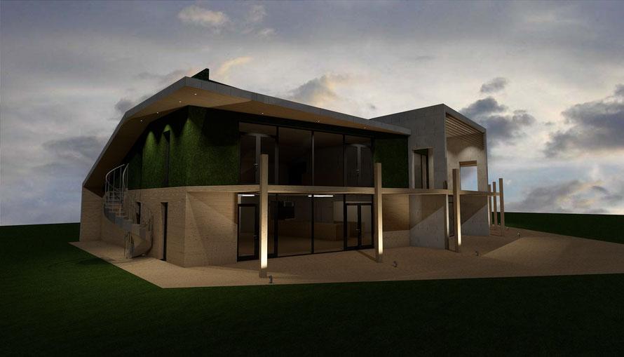 3D ontwerp strandtent en hotel Baarland