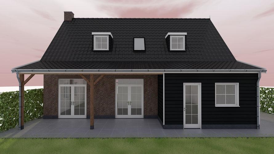 Aanbouw woning Zeeuwse stijl