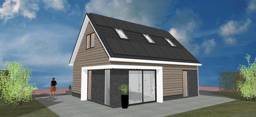 3D ontwerp vrijstaande woning Zevenhuizen