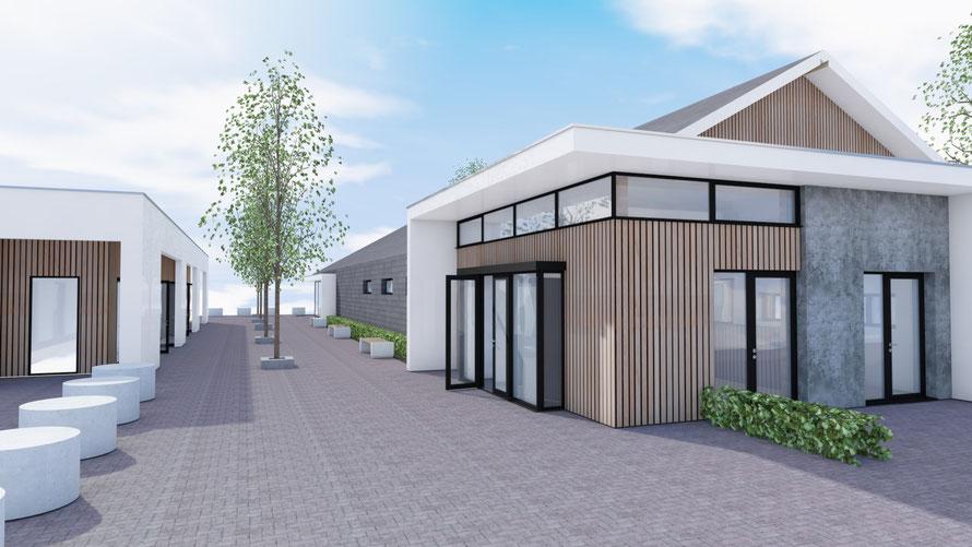 3D ontwerp rijtjeshuizen Middelburg