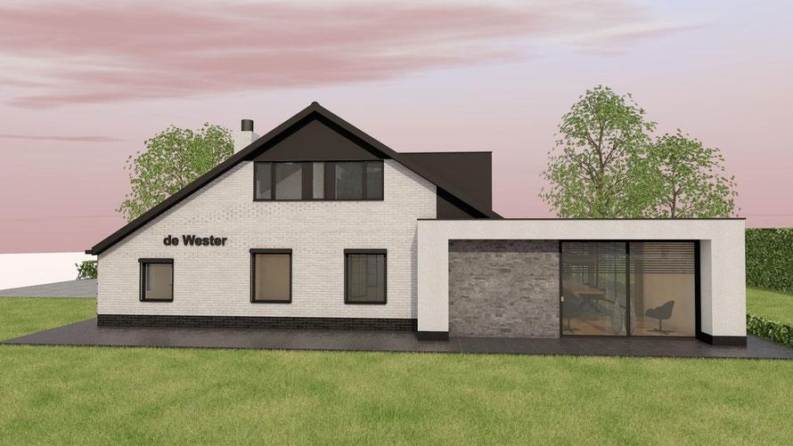 3D ontwerp bungalow te Baarland