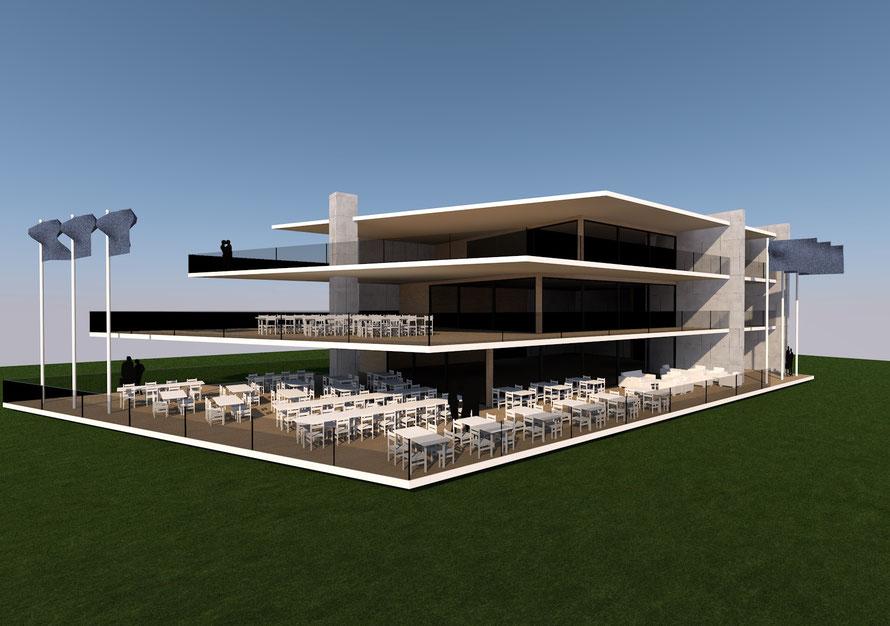 3D ontwerp restaurant en hotel Arnemuiden