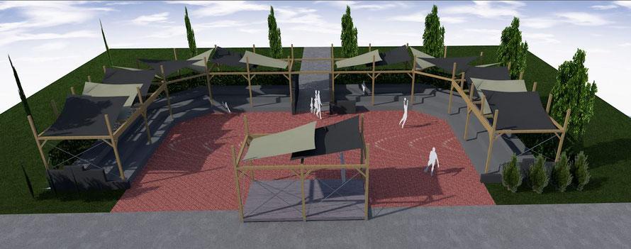 Bouw amfitheater, 3D ontwerp