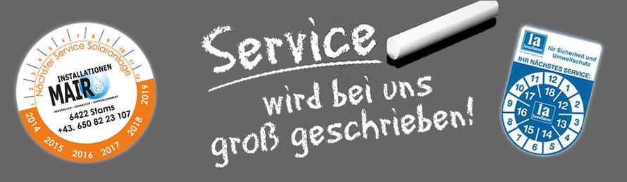 Serviceleistungen von Installationen Mair