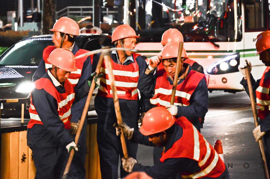 Strassenbauarbeiter, Shanghai