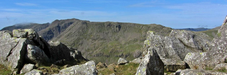 Scafell Pike the hard way.  Guided walk.