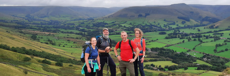 The Churn it from Chinley Challenge Walk - view of Mount Famine and South View