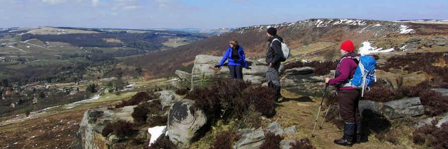 The Southern Gritstone Edges. White Edge, Froggatt Edge, Curbar Edge and Baslow Edge