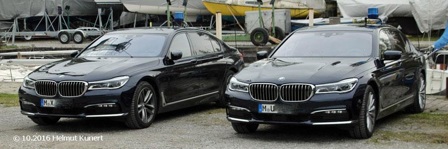 Der Bay. Innenminister mit seinen Fahrzeugen