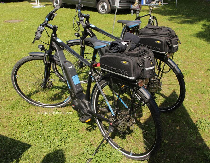 Aus Passau: zwei ununiformierte E-Bikes für den Streifendienst.