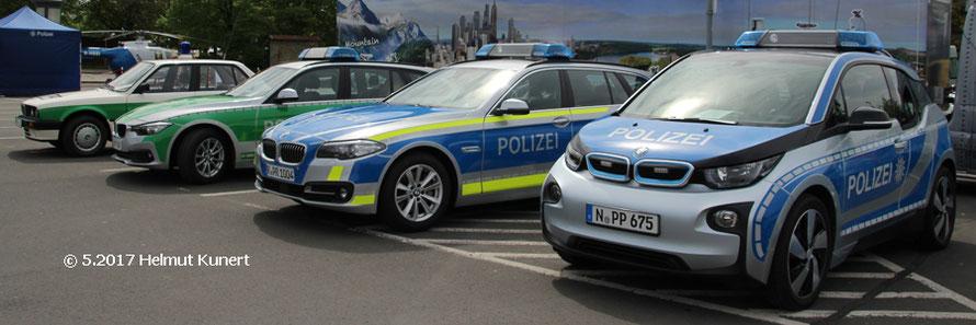 Vier Farb- und Modellgenerationen auf BMW.