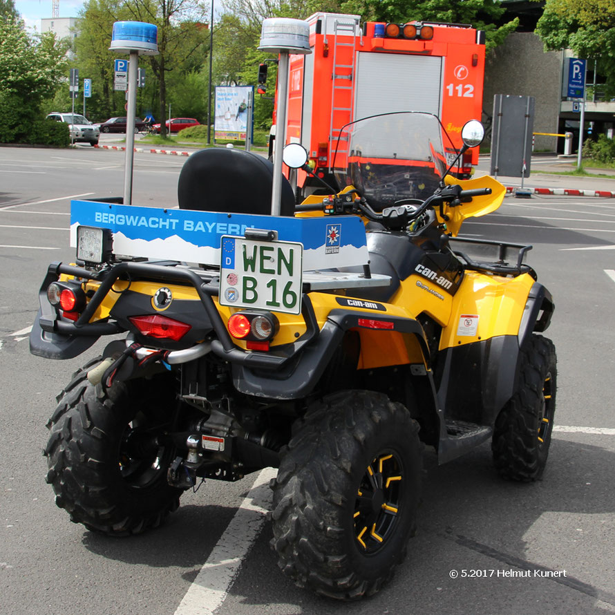 ATV (All Terrain Vehicle)  der Bergwacht Weiden.