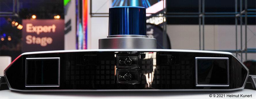 Sensor mit Blaulicht