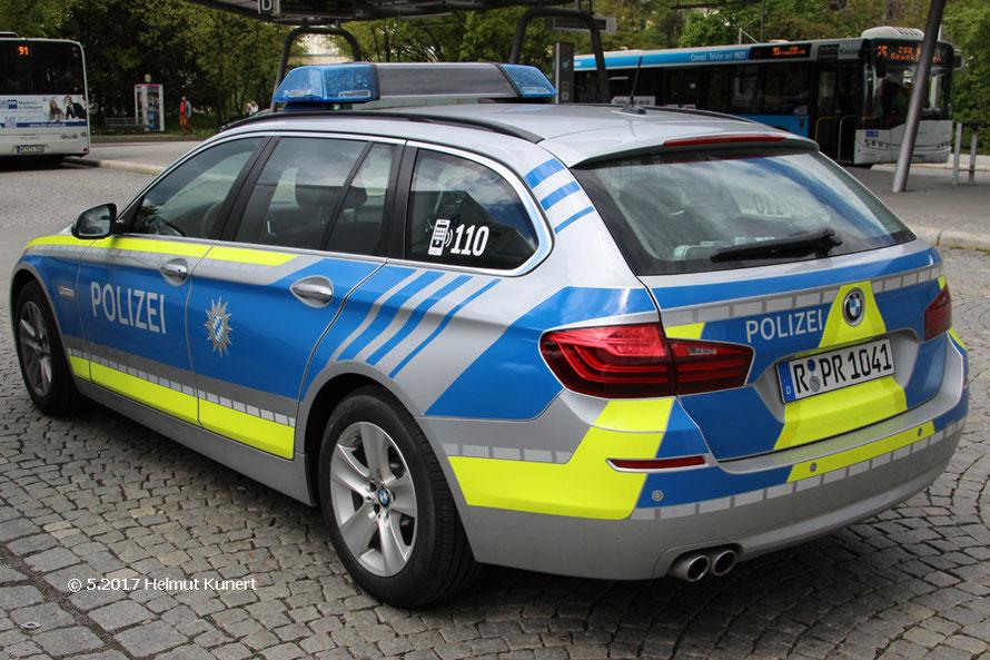 Neueste Farbe bei der Polizei in Bayern.
