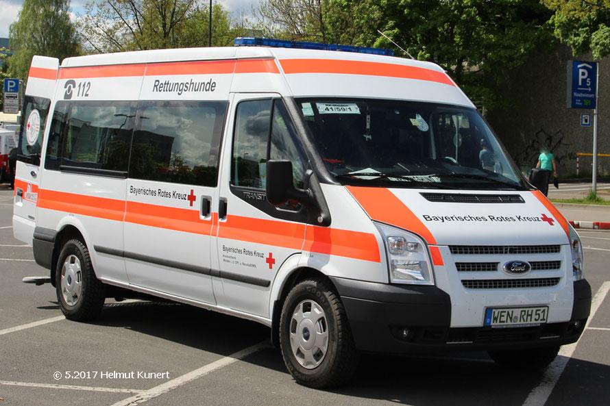 Fahrzeug für Rettungshunde. RK Weiden 41/59/1