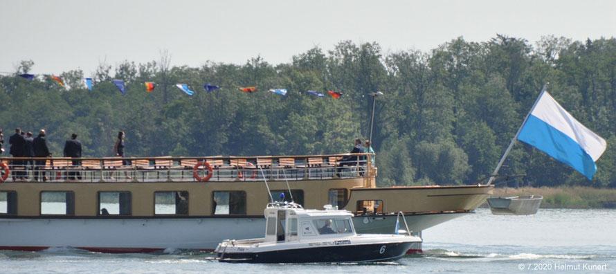 Begleitet vom WSP-Boot 6: Überfahrt mit Ministerpräsident Söder nach Herrenchiemsee. Absprache wird er Kanzlerkanditat?