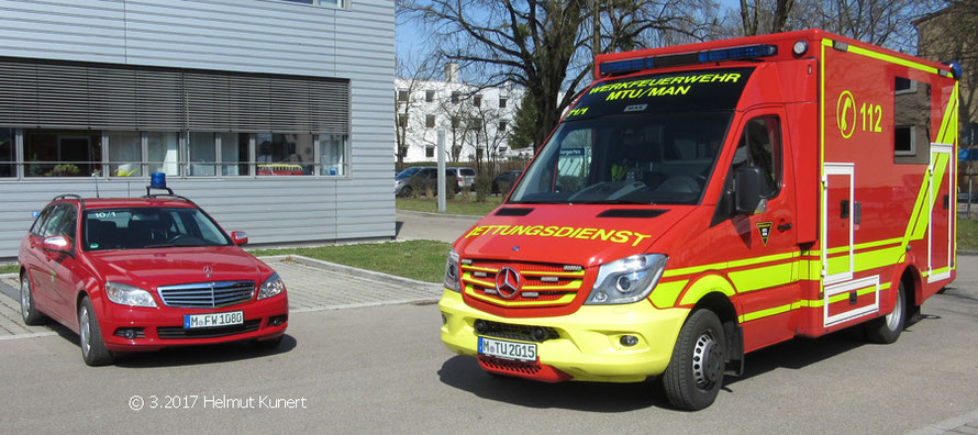Führungsfahrzeug und RTW 1.