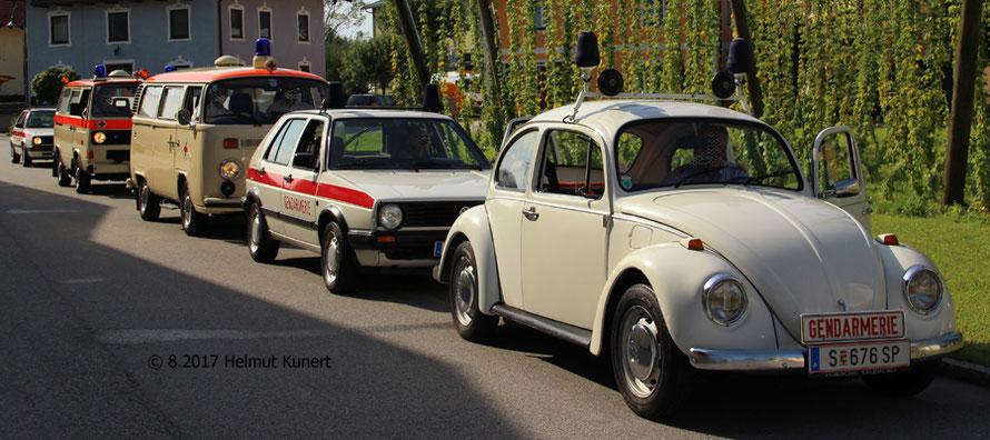 Das Rotkreuz-Museum aus Salzburg. Heute mit drei mal Gendarmerie und zwei mal Krankenwagen.