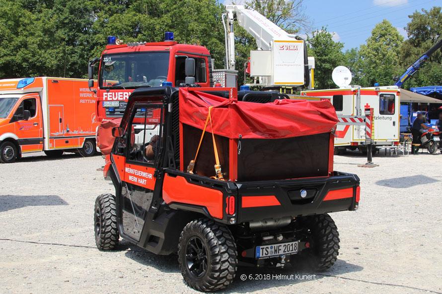 Gast der WF Werk Hart mit geländegängigem Fahrzeug.