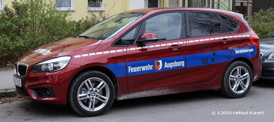 Florian Augsburg 1-10-6 KdoW in ungewöhnlichem Rot und ohne Blaulicht