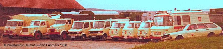 Fuhrpark 1980 am Garagenstandort Wörth