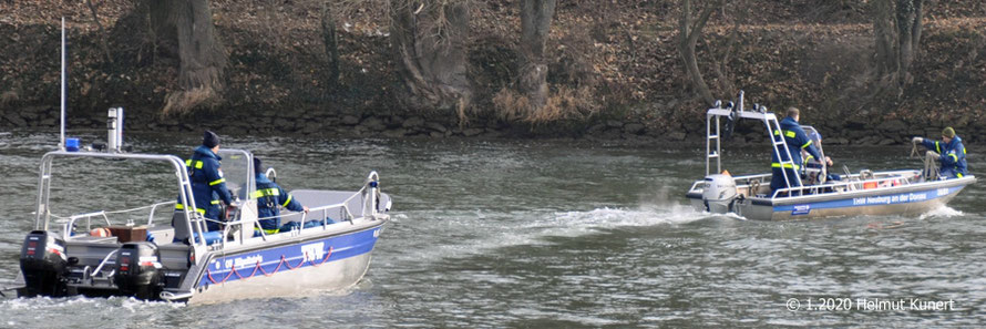 THW-Boot aus Hilpoldstein und Neuburg