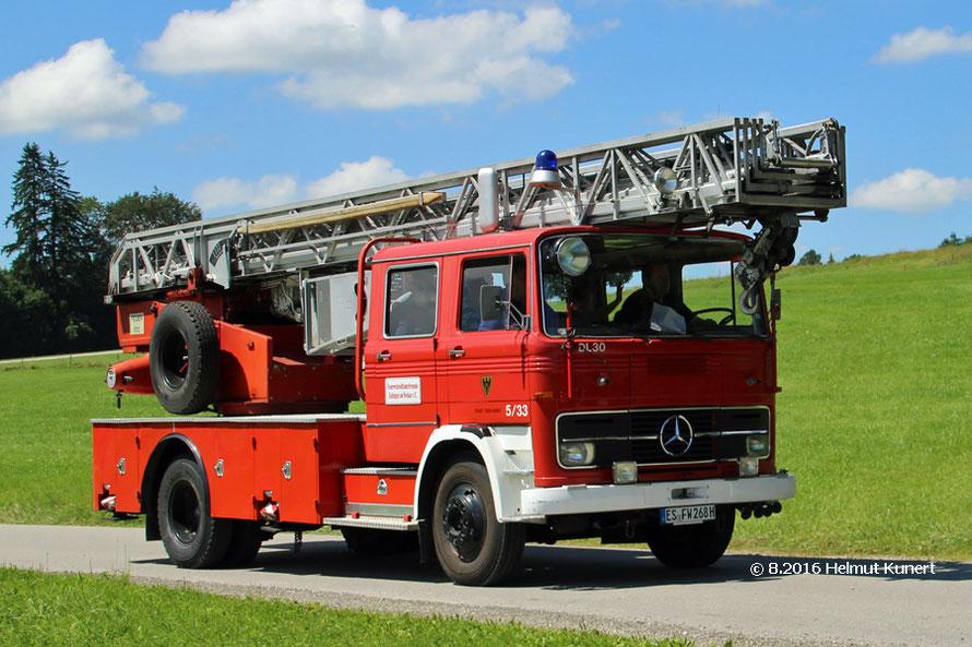 Stark vertreten die Feuerwehroldtimerfreunde Esslingen a. N.