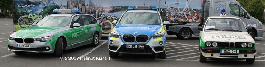 Drei Farb- und Modellgenerationen auf BMW.