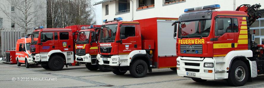 Ausstellung im Hof der Feuerwehr
