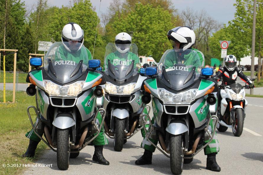 Die drei von der Polizei aus Bayern.