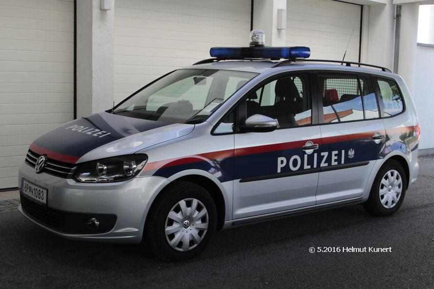 Örtliche Bundespolizei mit Wappen hinter dem Schriftzug!