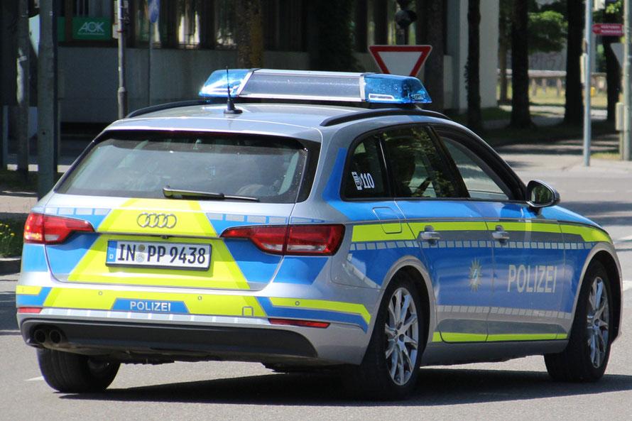 Erprobungs-Audi im Einsatz