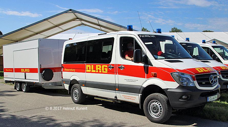 Erstes Gespann der DLRG in Wartenberg, Kreis Erding.