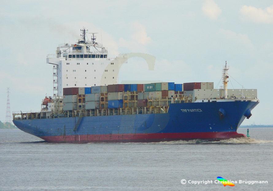 Containerschiff TFR PARTICI,  Elbe  09.05.2019