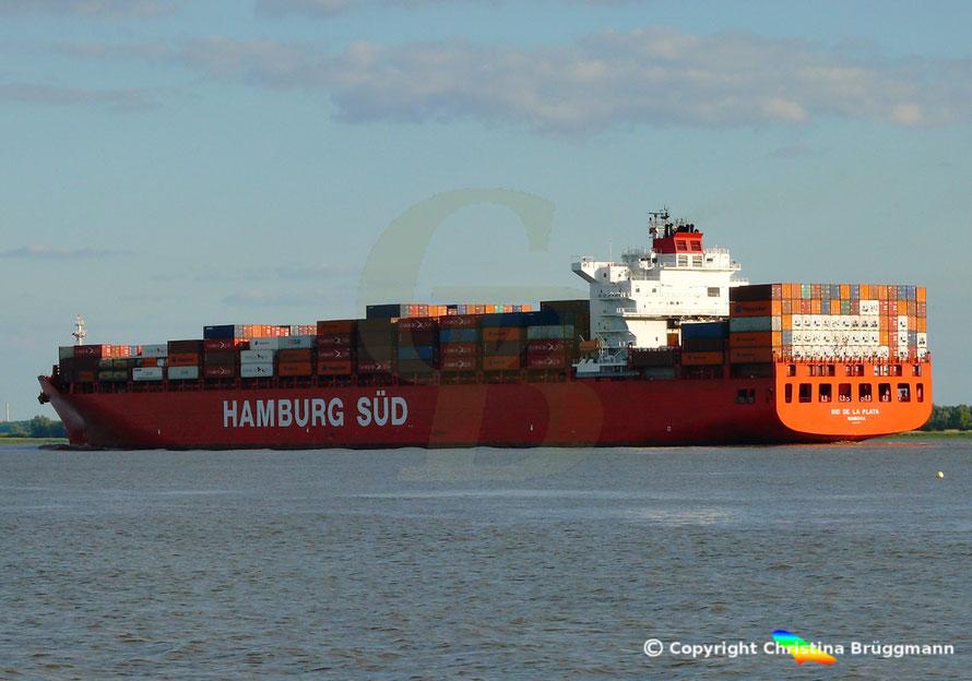 Containerschiff RIO DE LA PLATE, Elbe 10.06.2015