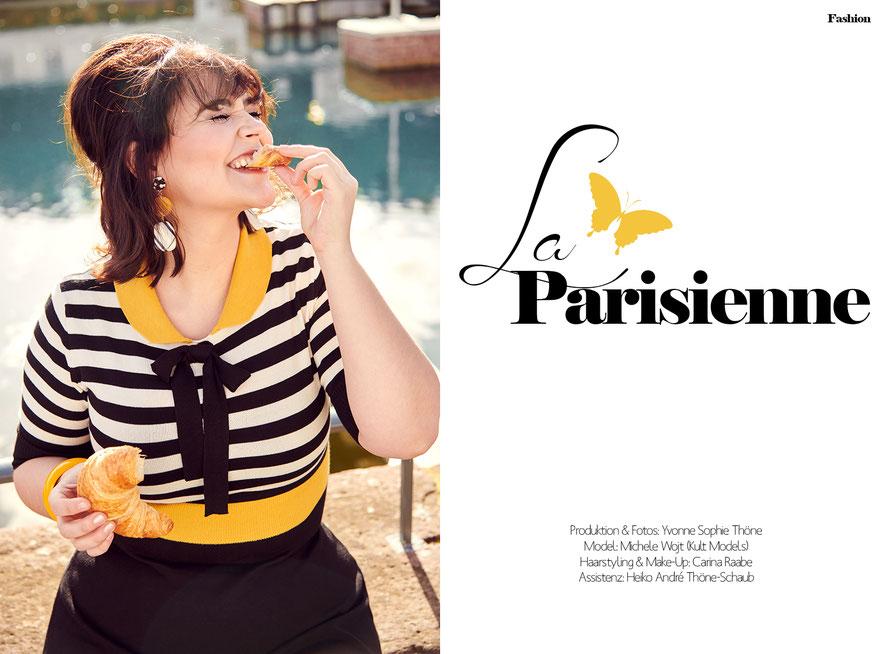 La Parisienne - Modestrecke inspiriert von den 1960er Jahren für The Curvy Magazine