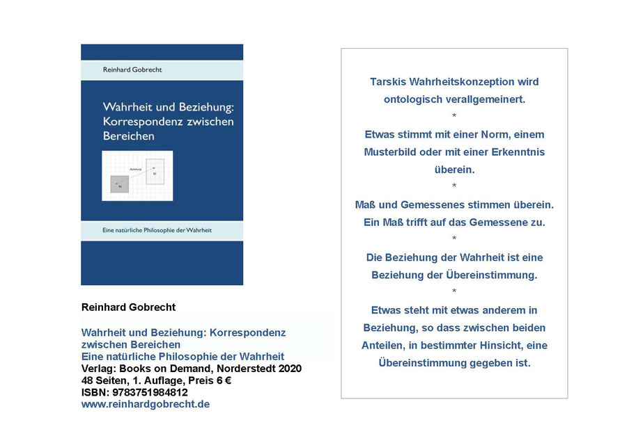 Flyer Wahrheit und Beziehung   ISBN 9783751984812
