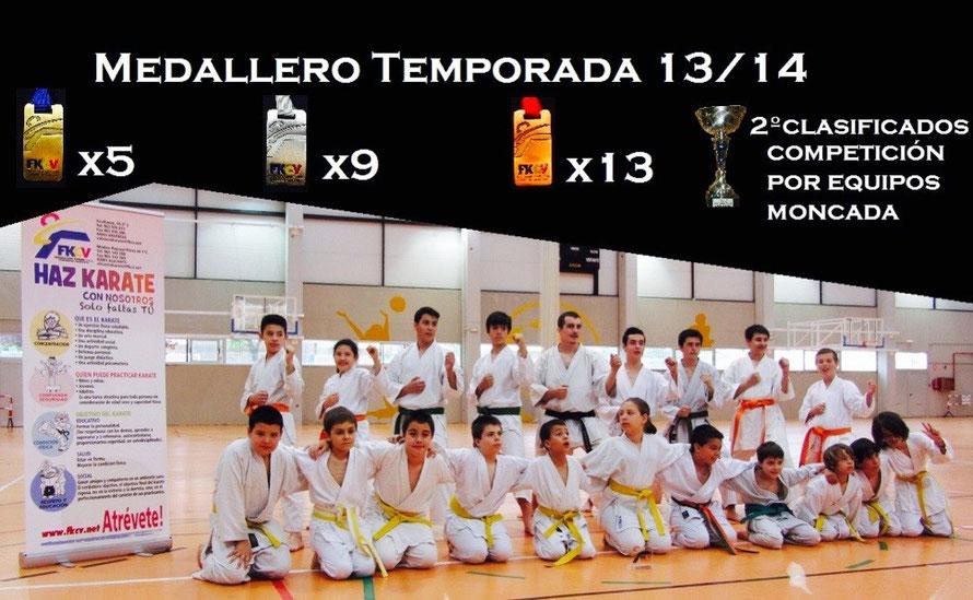 Medallero Benicalap 2013/14