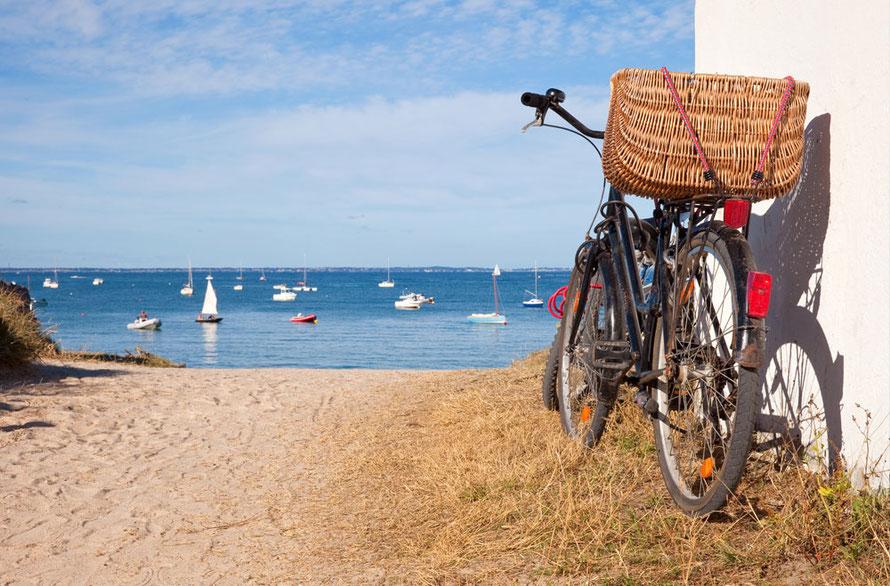 vélo au bord de la plage