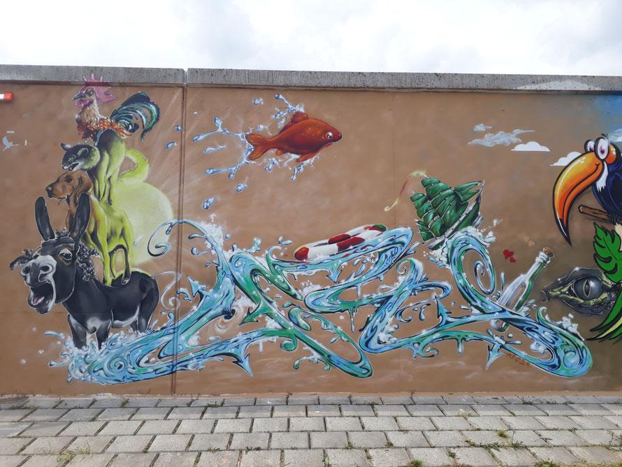 Bremer Stadtmusikanten zum Farbflutfestival in Lemwerder 2018