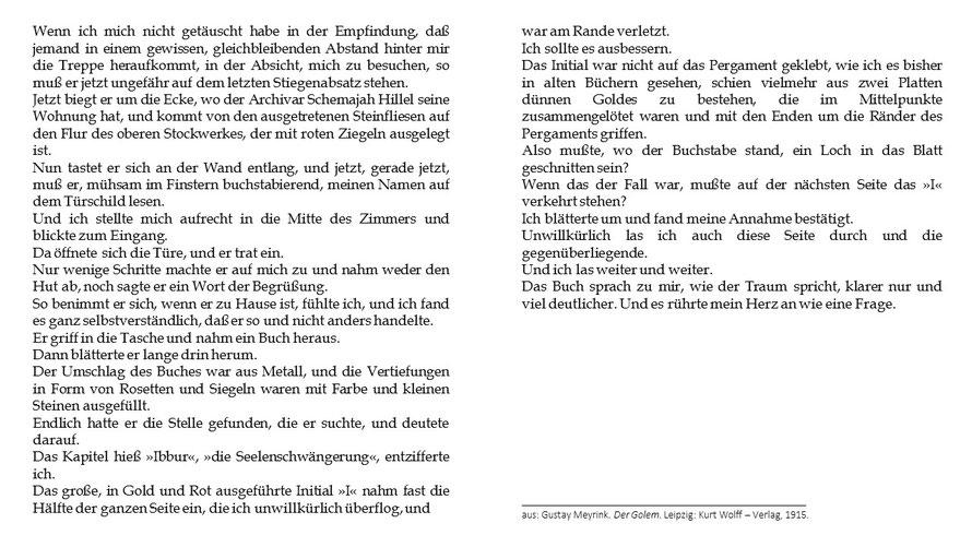 Gustav Meyerink Der Golem
