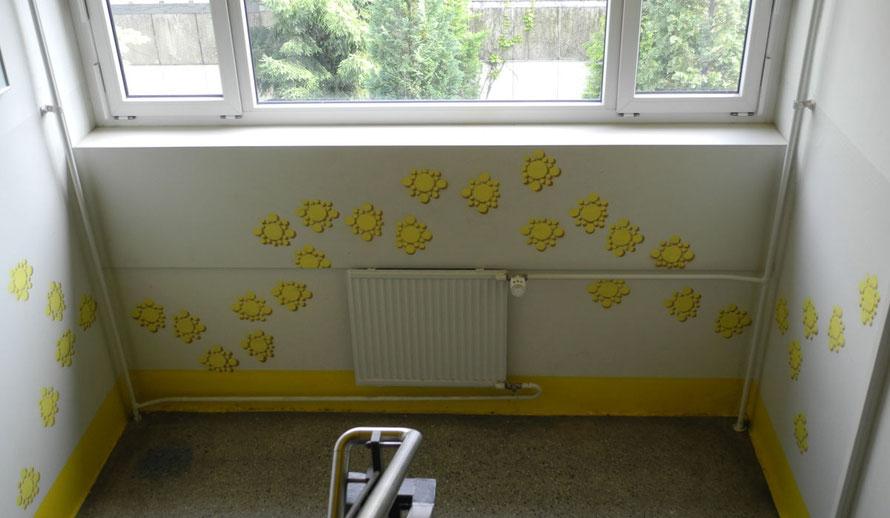 PAT23 Graffiti Workshop Leipzig - Schule Schulhaus Treppe Wand Gestaltung - Schablone Kurs Ganztagsangebot