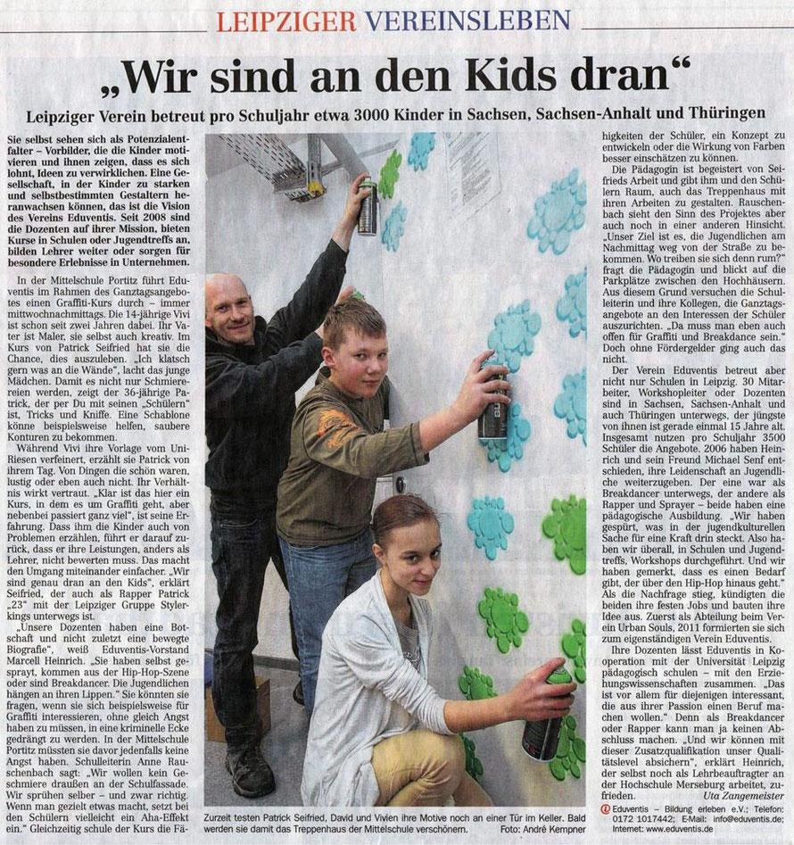 PAT23 Graffiti Workshop Leipzig - Schule LVZ Klassenzimmer Schulhaus Gestaltung - Schablone
