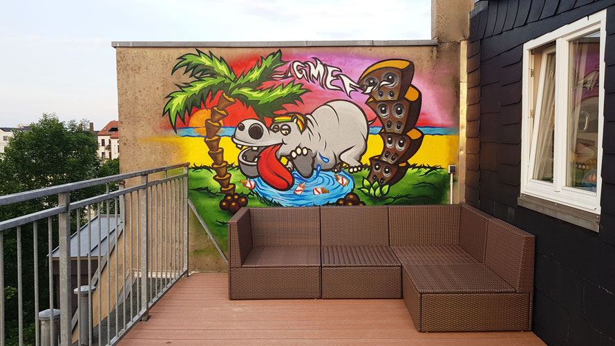 PAT23 - Graffiti-Auftragsarbeit Leipzig