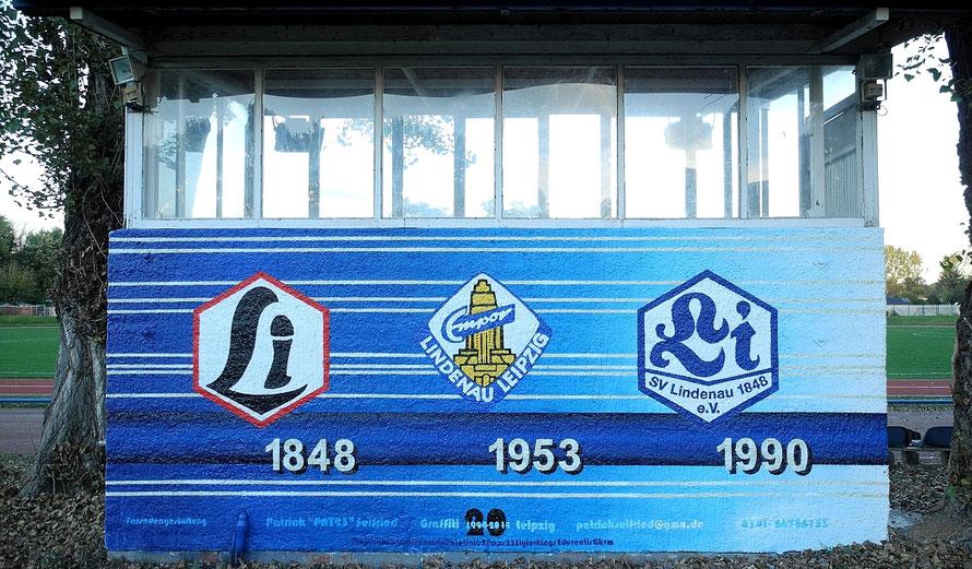 PAT23 - Fassaden Gestaltung Leipzig - Wandmalerei Logo Sport Verein SV Lindenau 1848 e.V. History Geschichte