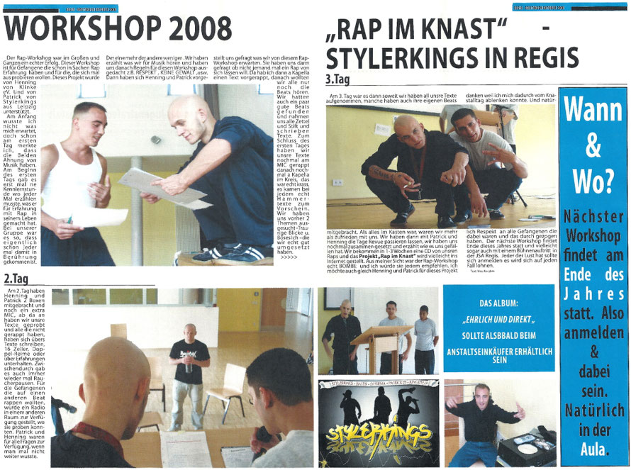 PAT23 Rap Poetry Workshop Leipzig - Texte Schreiben Reimen Schwerpunkt Themen Behandeln Gruppenarbeit