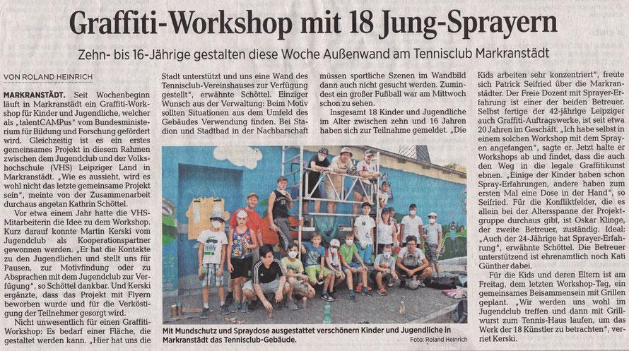 PAT23 Graffiti Workshop Leipzig - Markranstädt - Leipziger Volkszeitung