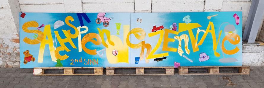 PAT23 Graffiti Workshop Leipzig - Sachspendenzentrale