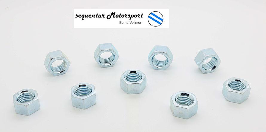 sechskantmuttern feingewinde m 10 x 1,25 schlüsselweite 14