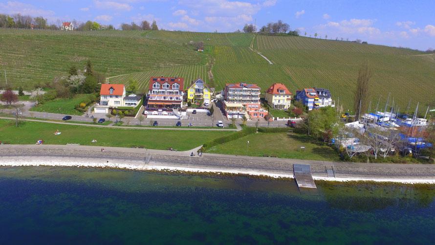 Ferienwohnungen und Doppelzimmer im Seegarten in Meersburg direkt am Bodensee!